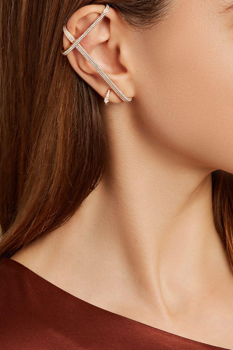 Repossi Staple 18-karat Rose Gold Ear Cuff 02NrW