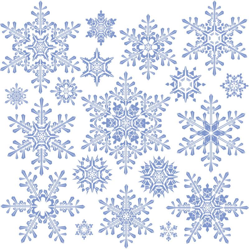 Decorative snowflakes templates #vector Free Vector Graphic - snowflake template