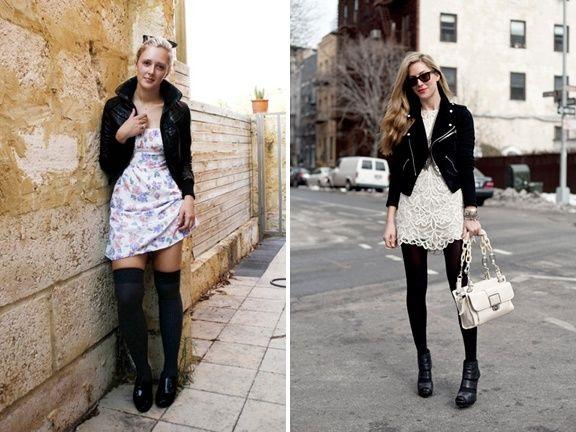 Lace dress leather jacket junkie | Beautiful dresses | Pinterest ...