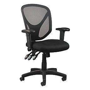 Realspace® mftc 200 mesh multifunction ergonomic mid-back task