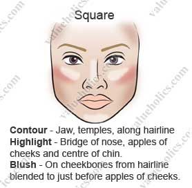 Contouring For Square Face Contour Square Face Square Face