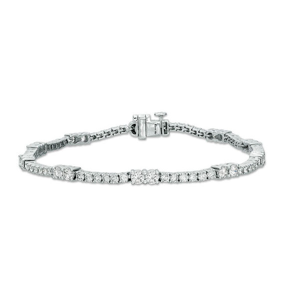 Ever Us 3 Ct T W Two Stone Diamond Tennis Bracelet In 14k White Gold Tennis Bracelet Diamond Tennis Bracelet White Gold