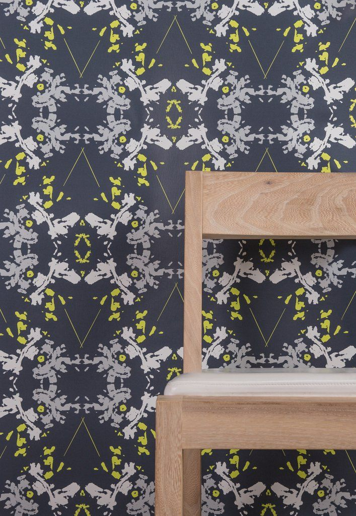 Blackish Magic Wallpaper (Midnight/Chartreuse) (With