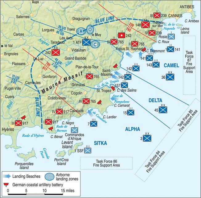 Map Of Southern France Cities.On August 15 1944 The Allied Landings In Southern France Struck