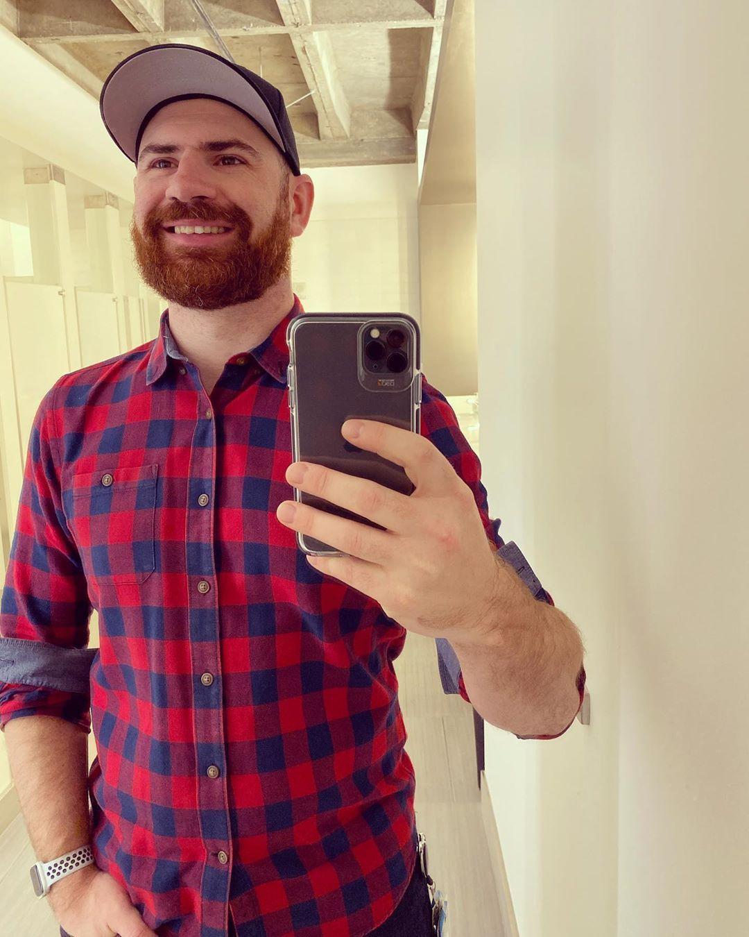 "Levi on Instagram: ""#fbf to when we had offices to take selfies in... . . . . #beards #beardedmen #instagay #ginger #beard #thebeardedway #gingerbeard…"""