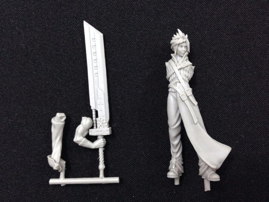 Ff7 Karte.Cloud Final Fantasy Vii 7 Manga 54mm Scale Non Warhammer Miniature