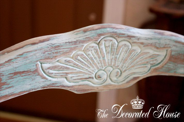 Tutorial: The Decorated House: ~ French Chair, Chalk Paint Distressed and...