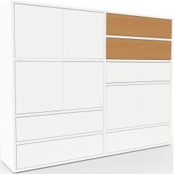Highboard Weiß - Highboard: Schubladen in Weiß & Türen in Weiß - Hochwertige Materialien - 152 x 118