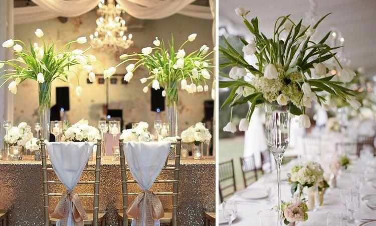 Decoraci n de bodas arreglos florales para centros de Arreglos para boda en salon