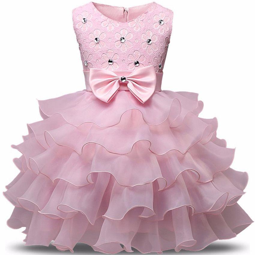 Princess Girl Dress Children Sleeveless TUTU Formal Attire ...