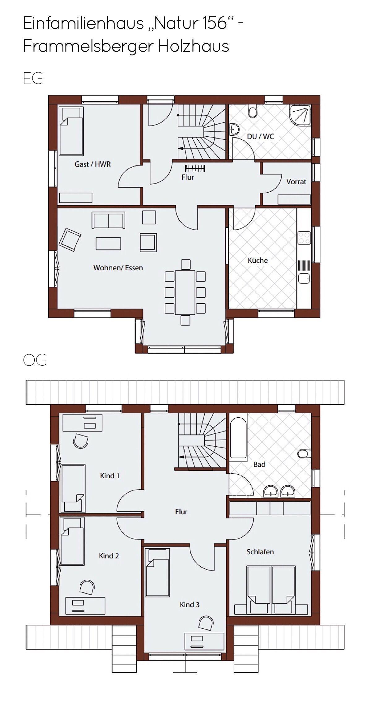 Modernes Einfamilienhaus Kopf D156 in Hanglage Frammelsberger Holzbau