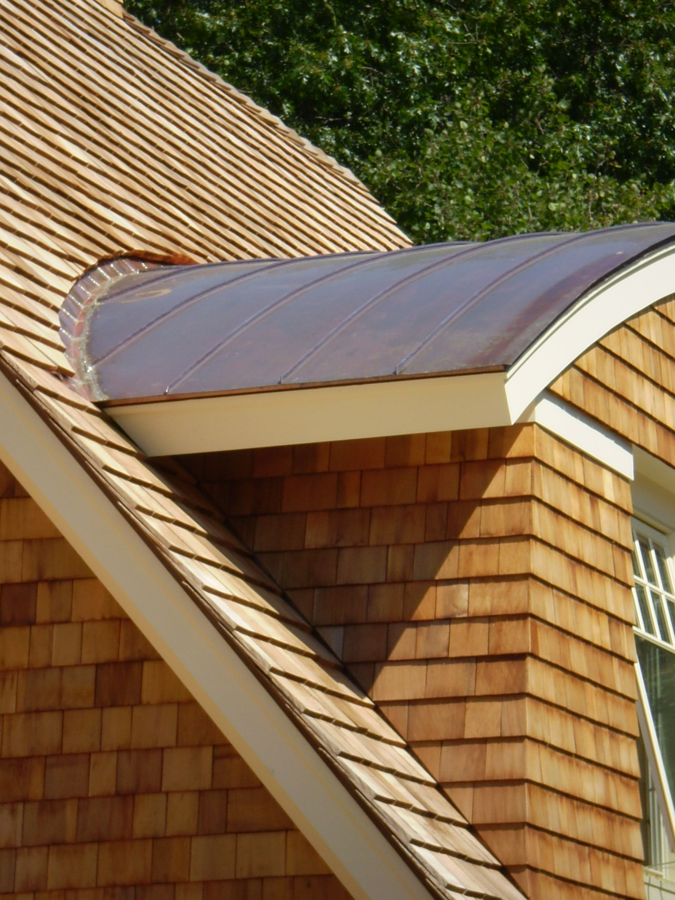 Curved Copper Standing Seam Standing Seam Metal Roof Copper Roof Roof Edge