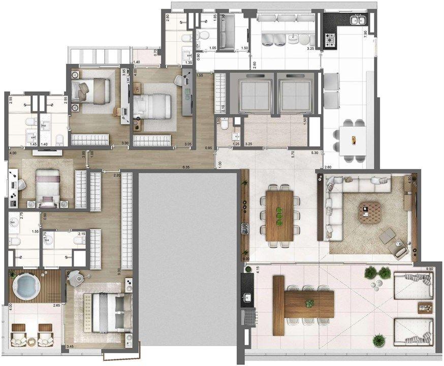 Title Com Imagens Plano De Casa Floor Plan Apartamentos De Luxo