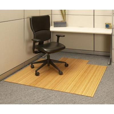 Anji Mountain Standard 5 Mm Natural Light Brown 55 In X 57 In Bamboo Roll Up Office Chair Mat With Lip Amb24008 The Home Depot In 2020 Desk Chair Mat Home Office