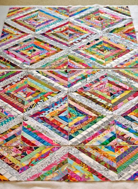 String Quilt by inquilternity. I like this one a lot because the ...