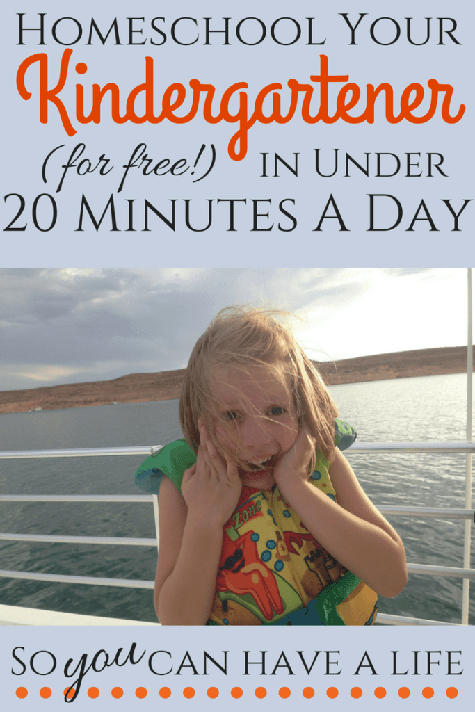 Homeschool Kindergarten (for free!) in just 20 minutes a day | Orison Orchards