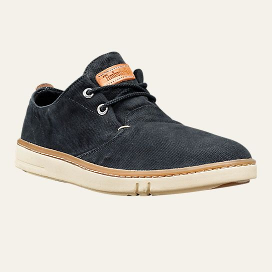 Timberland Earthkeepers Hookset Handcrafted Fabric Oxford Shoe - Me Washed  Black Canvas