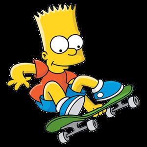 Bart Simpson Skateboarding Wallpaper 25797