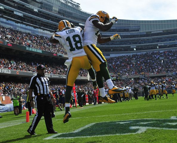 Randall Cobb Davante Adams Photos Photos Green Bay Packers V Chicago Bears Green Bay Packers Funny Green Bay Packers Clothing Green Bay Packers Crafts
