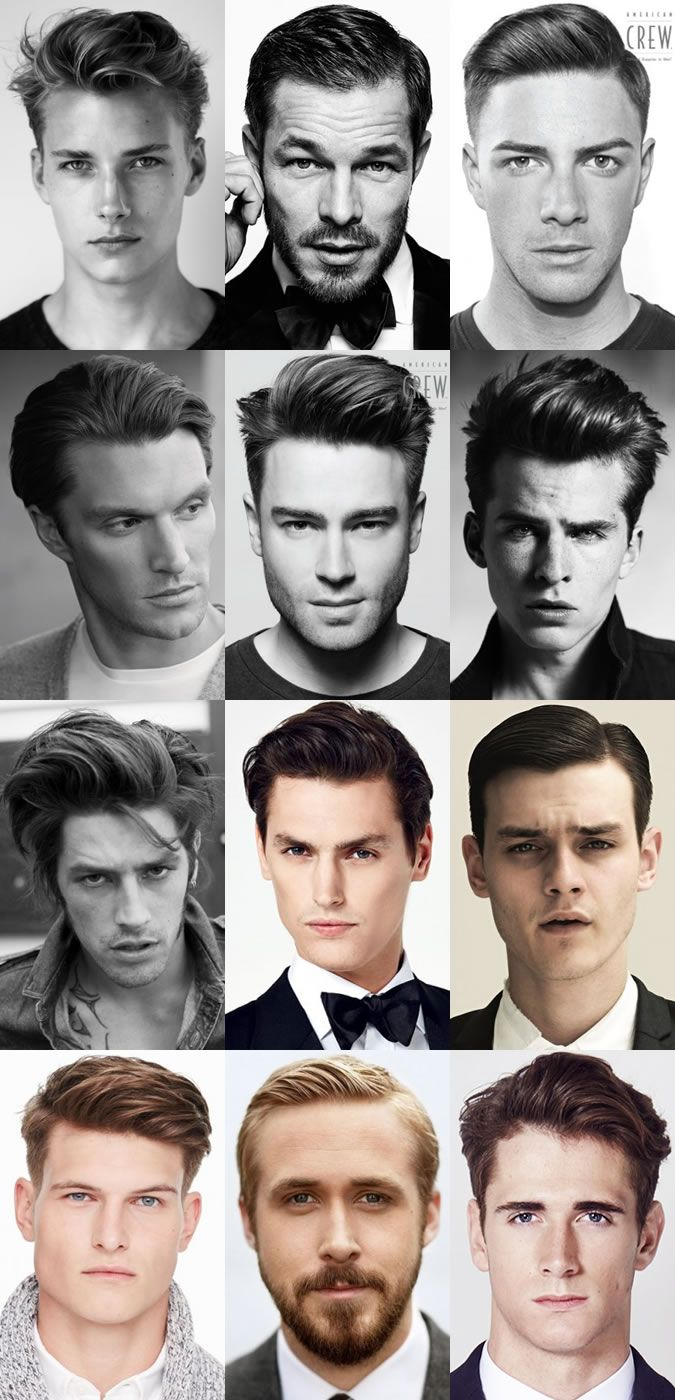 Mens Classic Quiff Hairstyles Lookbook Mens Hairstyles Hair