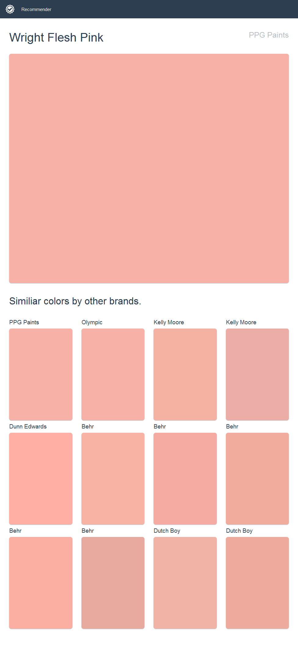 Wright flesh pink ppg paints ppg paint pinterest ppg