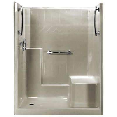 Ella 60 In X 33 In X 77 In 1 Piece Low Threshold Shower Stall