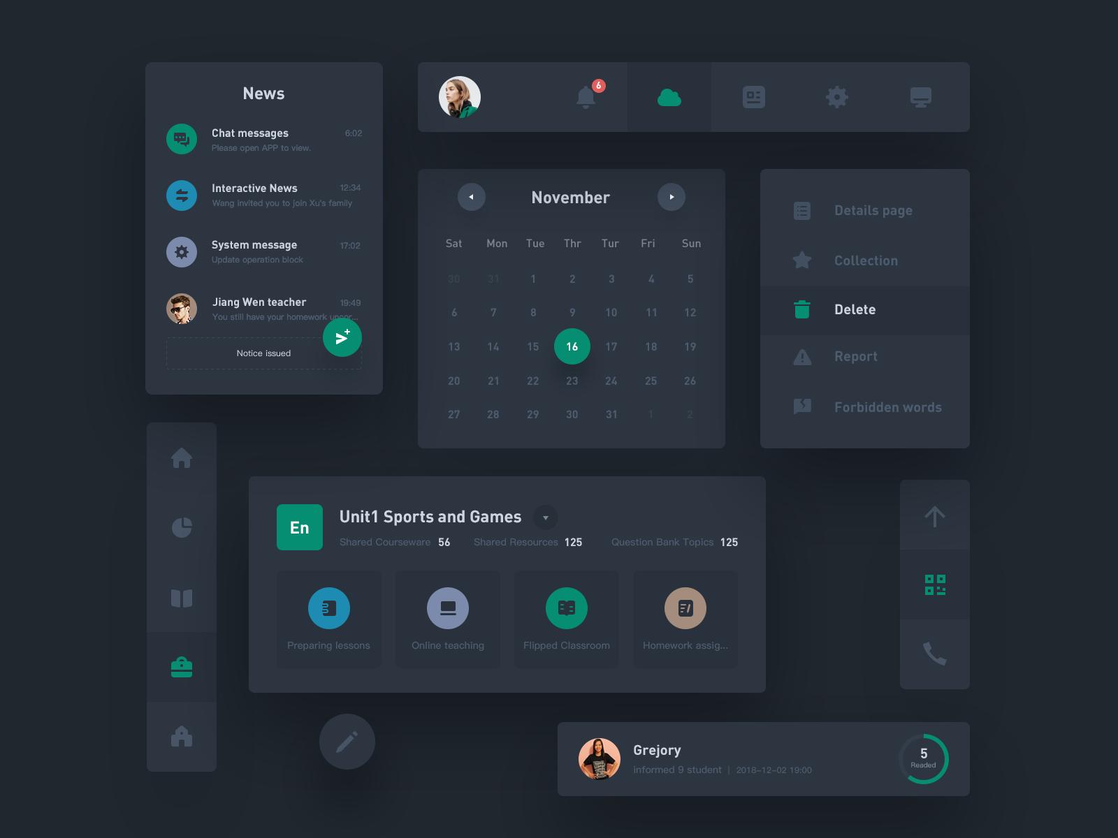 Uikit3 Dribbble, Screenshots, Desktop screenshot
