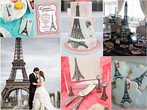 Paris Themed Wedding Ideas With Eiffel Tower From HotRef Eiffeltower