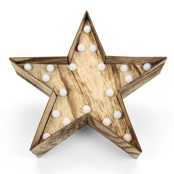 Home Made Modern Craft Of The Week 2 Rustic Christmas Stars: Wooden Star With LED Lights