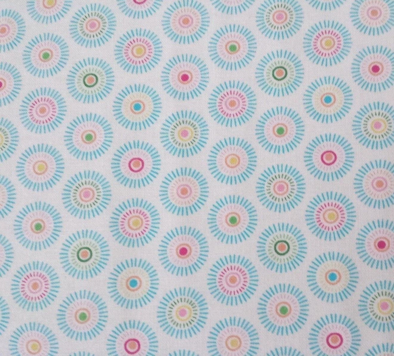 Lulu by Sparky /& Marie Quilting Treasures BTY Purple Multi Geometric on White