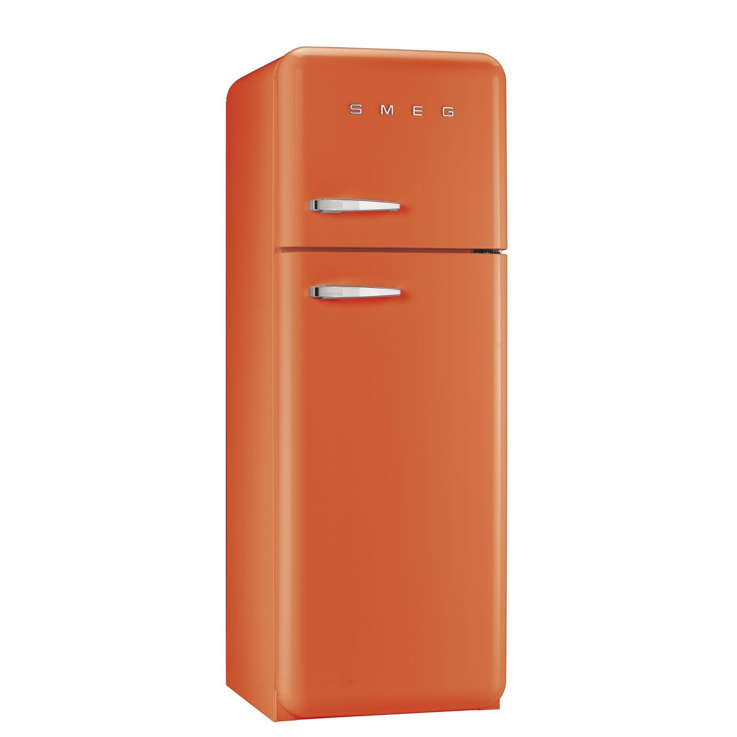 FAB30RFO 50\'s Retro Style Orange Fridge Freezer