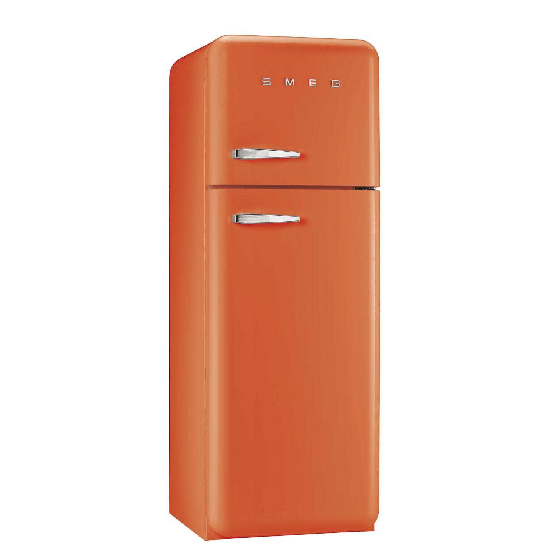 FAB30RFO 50\'s Retro Style Orange Fridge Freezer