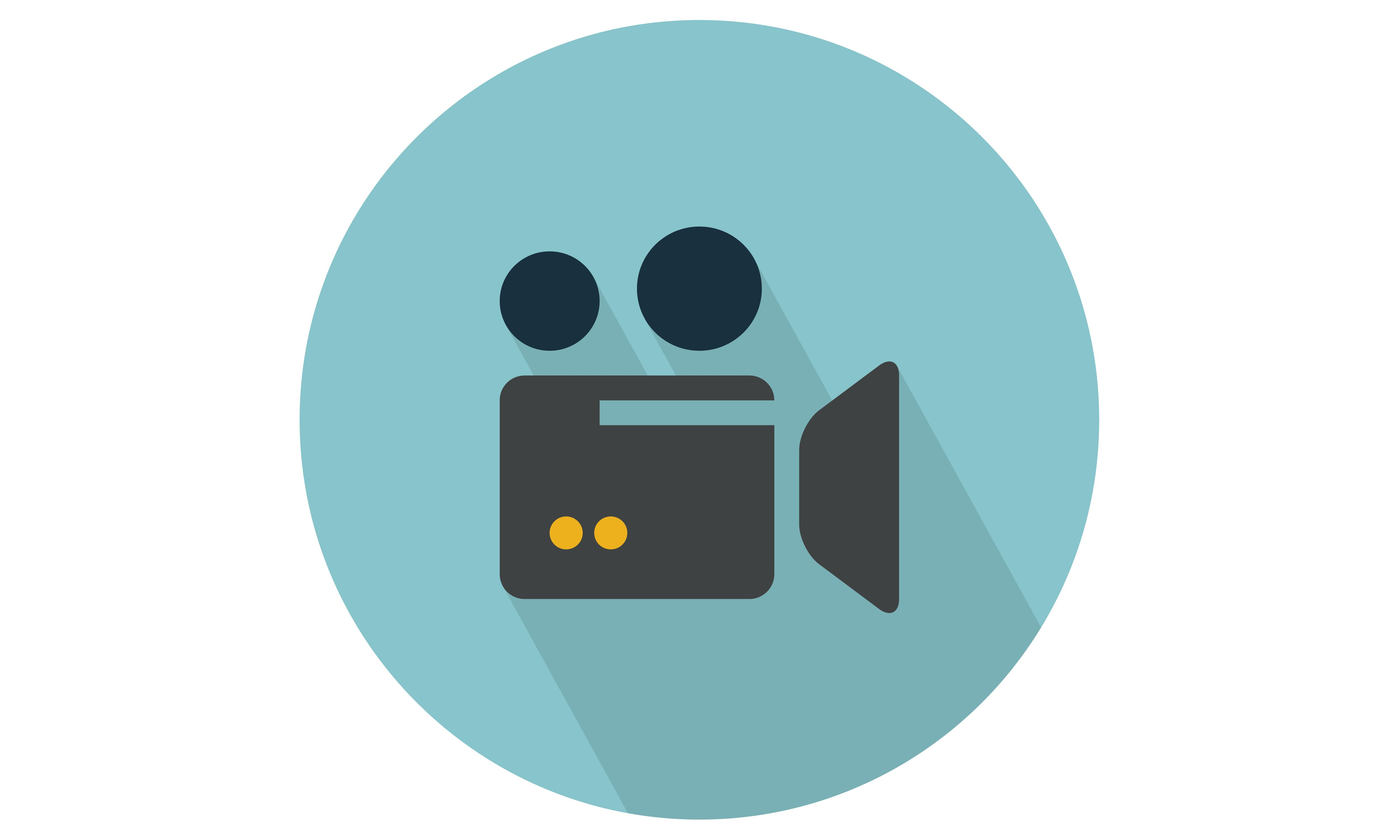 Movie / video camera Vector Illustration. From Our Range