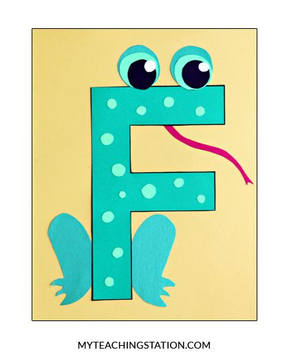 Letter F Craft: Frog | School | Preschool letter crafts ...