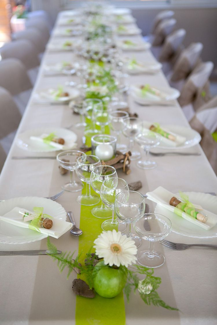 10 id es de chemin de table mariage chemin de table mariage table mariage - Decoration table mariage nature ...