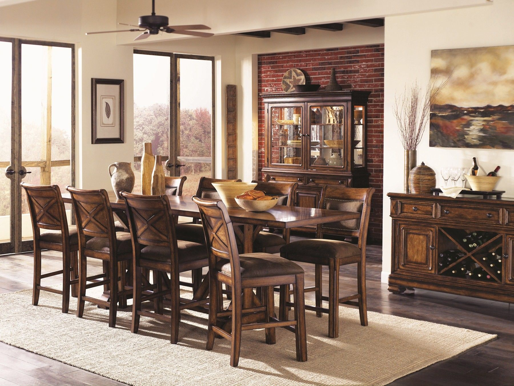 Larkspur Rectangular Counter Height Dining Room Set  Things I New Height Dining Room Table Design Inspiration