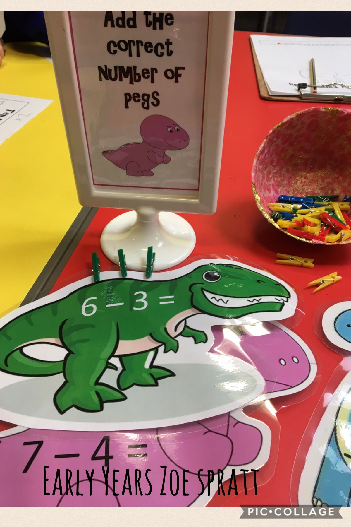 Dinosaur subtraction | Early Years Continuous provision Maths ...