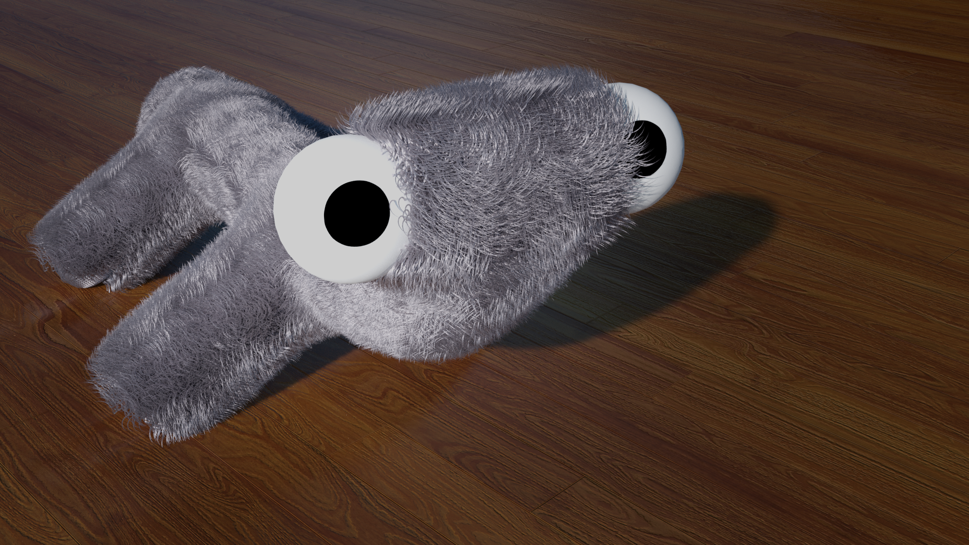 Just another silly render with a fluffy something :D #blender #b3d