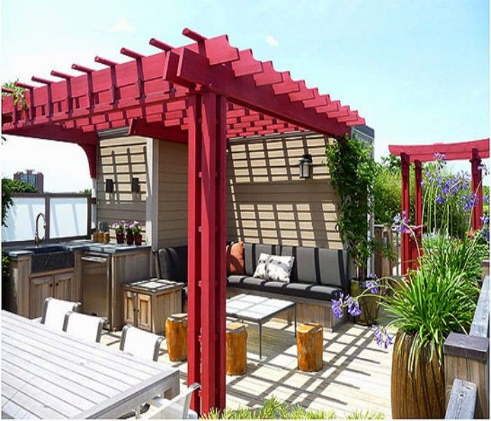 Rooftop Pergolas A Creative Bar Ideas Pergola Pergola On The Roof Pergola Designs