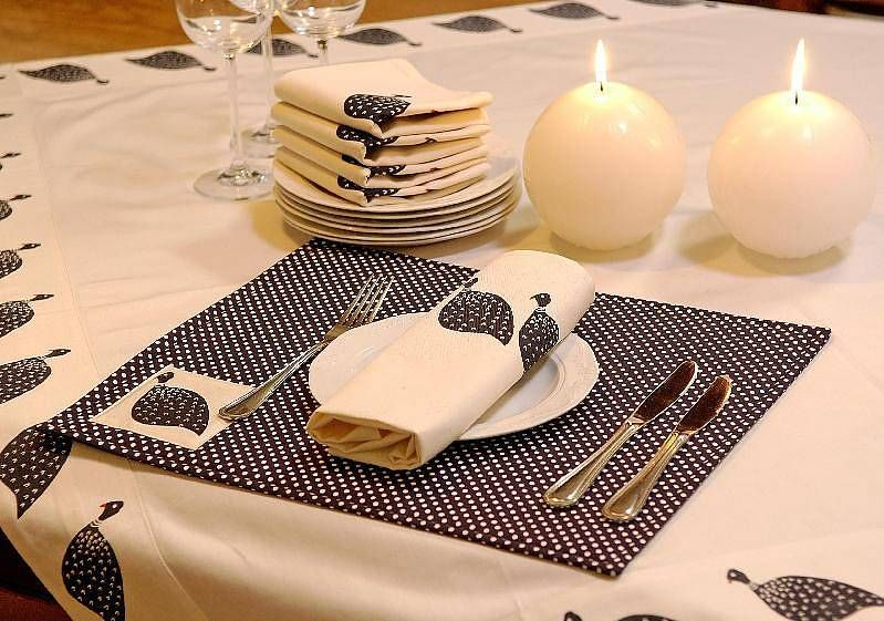 guinea fowl placemats by capewest   notonthehighstreet.com
