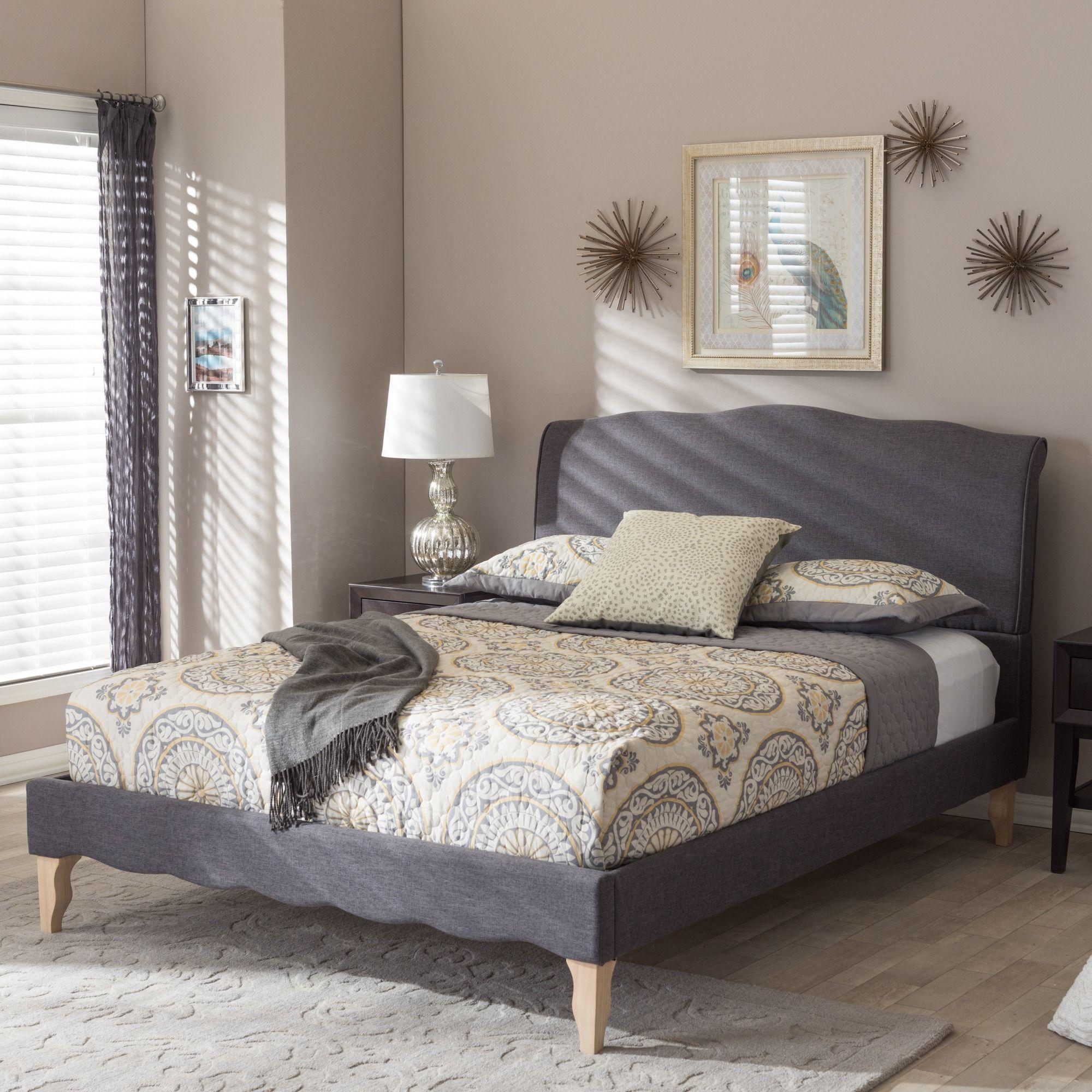 baxton studio euclid french classic modern style dark grey polyester