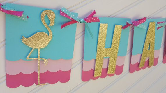 Flamingo Birthday Banner Pineapple Banner Pink By Sweetbugaboo