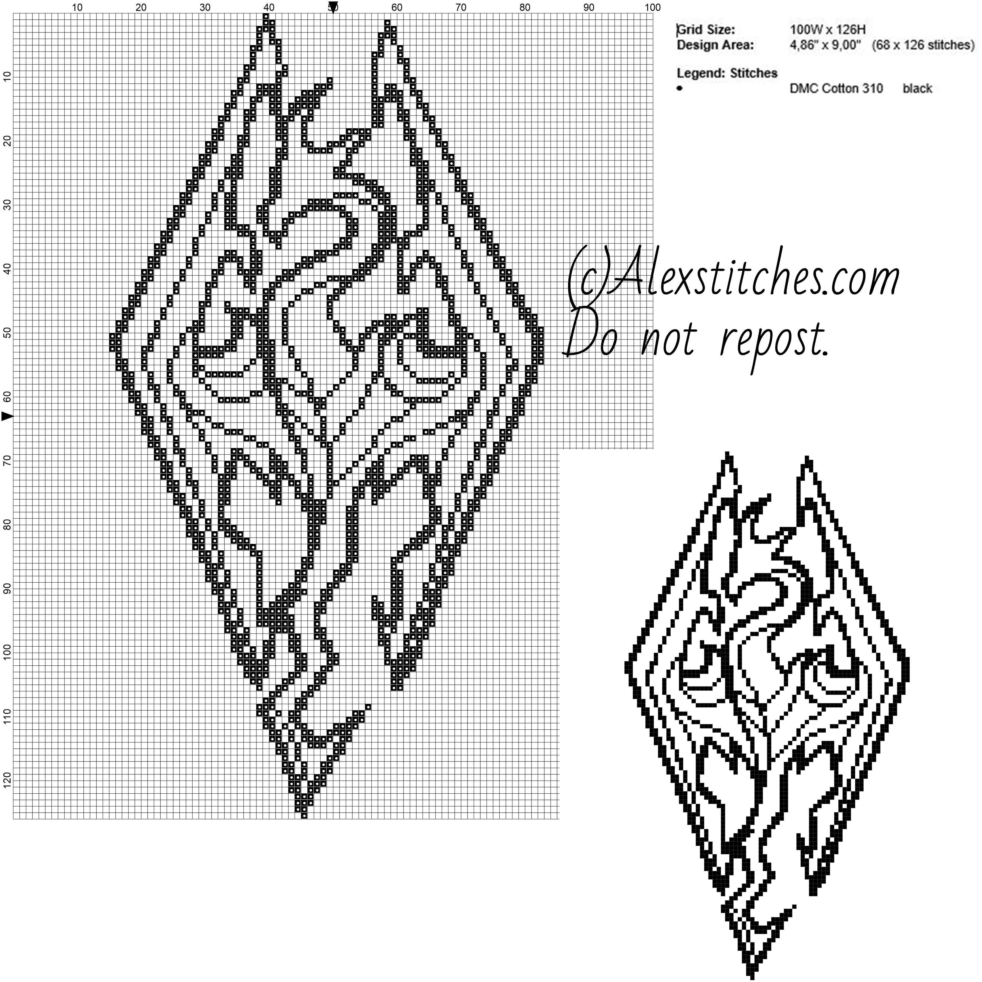 Pin de maria marenco en Dragones | Pinterest | Punto de cruz ...