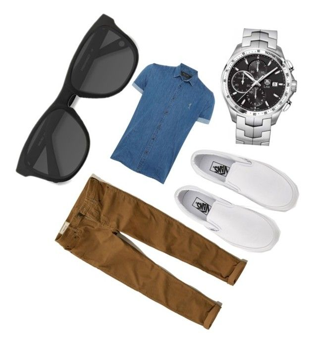 """""""Untitled #158"""" by ameun ❤ liked on Polyvore featuring Religion Clothing, Hollister Co., Vans and TAG Heuer"""