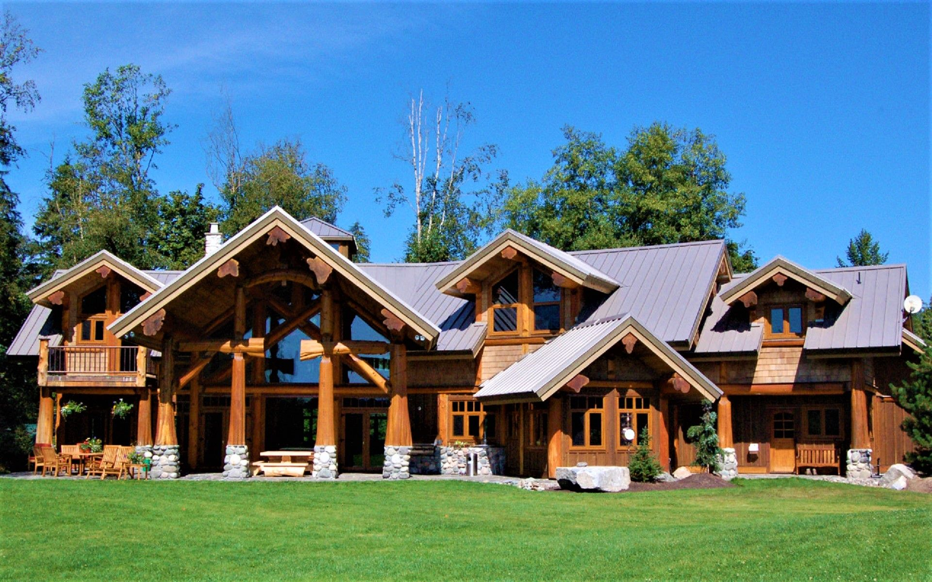 Langley Post Beam Located On A 20 Acre Estate In Langley Bc This Is One Of West Coast Log Homes Flagship Homes With Stunning Architectural De S