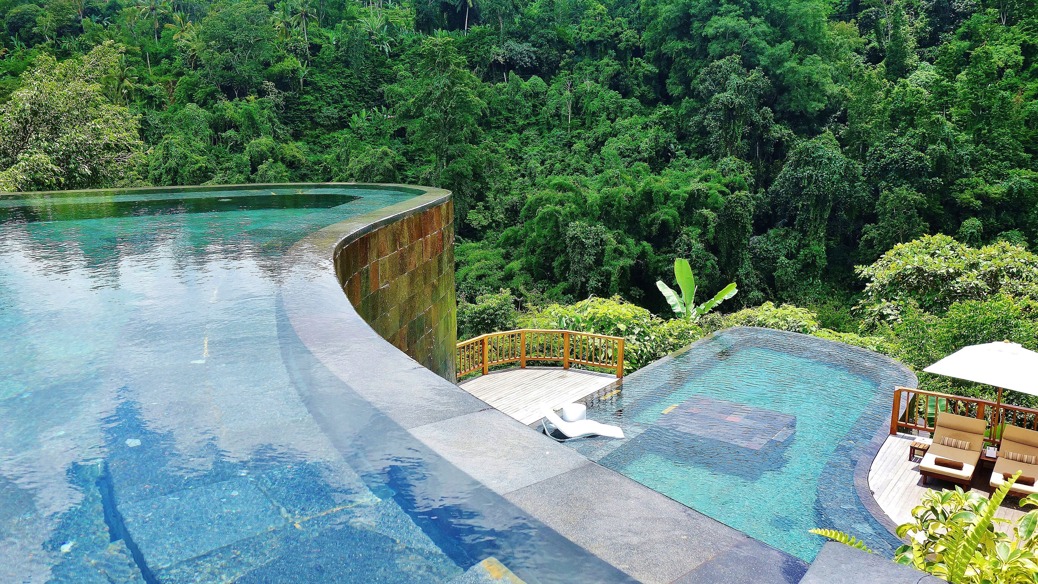the world's best swimming pool at hanging gardens of bali | places