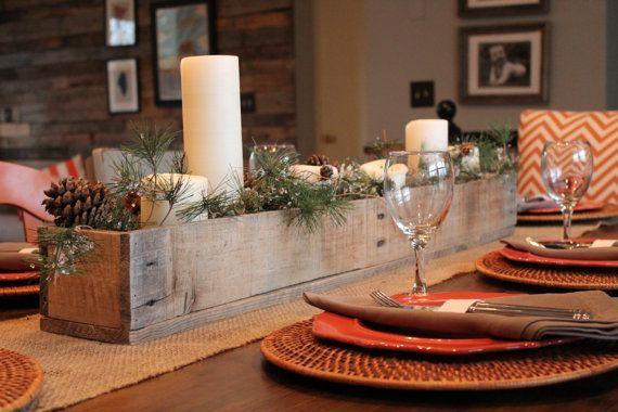 Centros navide os de mesa hechos con palet decoraci n - Centros de mesa navidenos hechos a mano ...