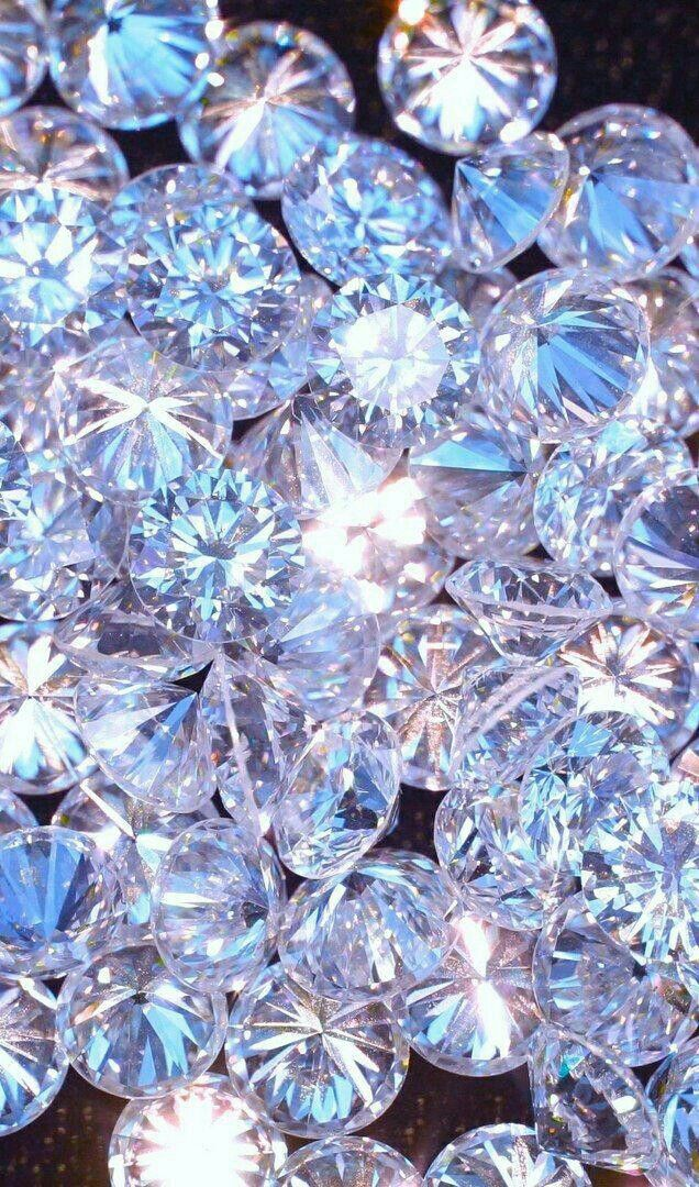 Cute Holographic Wallpapers Beautiful Diamonds Wallpaper By Artist Unknown