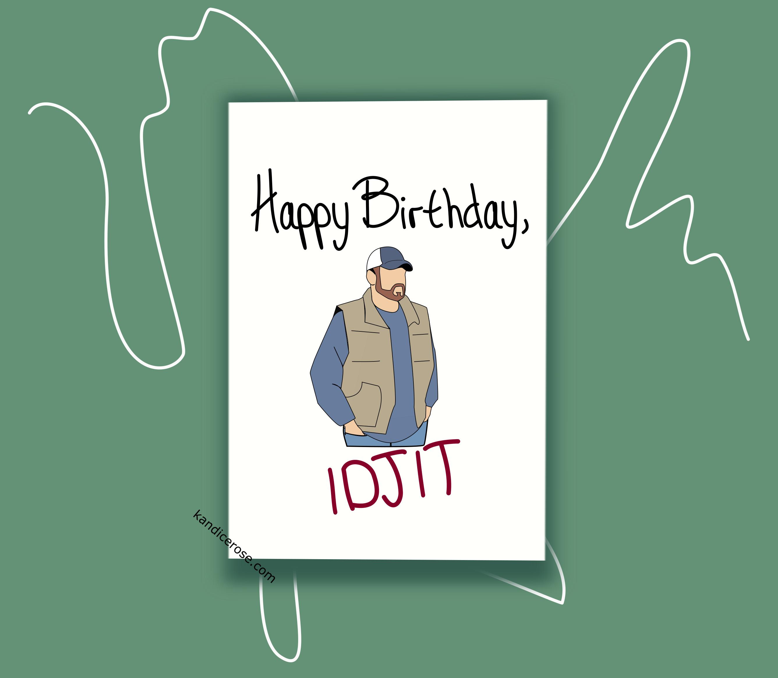 Bobby Singer Supernatural Birthday Card Supernatural Birthday Birthday Cards Bobby Singer Supernatural