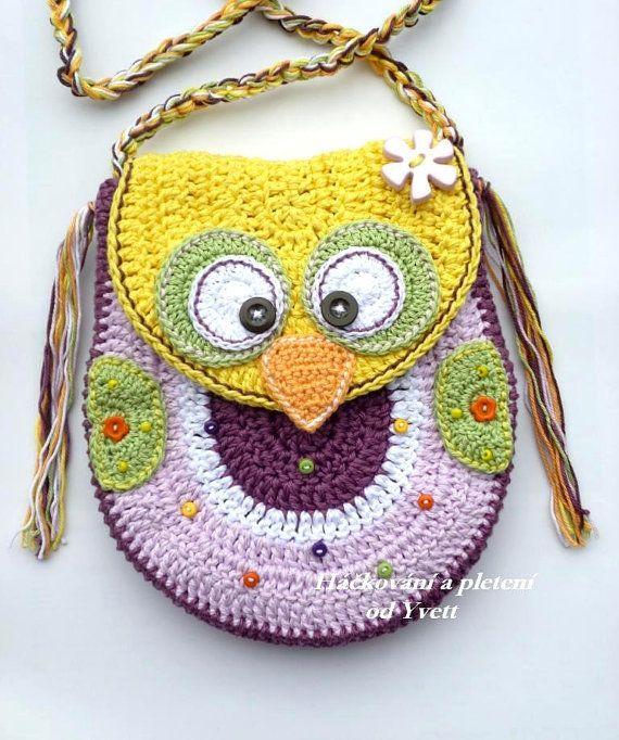 PATTERN - Owl handbag - crochet pattern, handbag, Purse, PDF ...